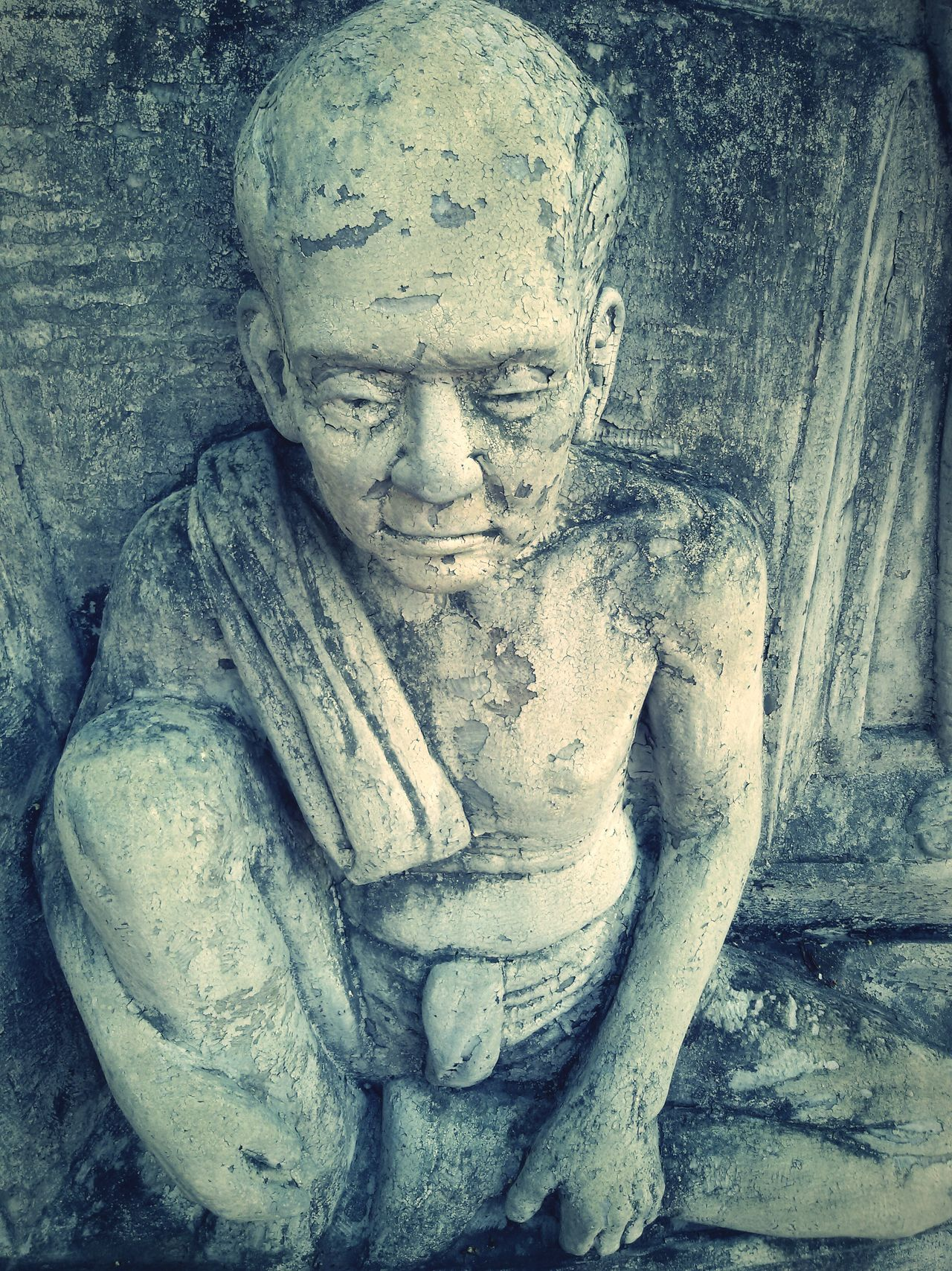The Old Man in Old Sculpture : The Old Thai Lifestyle, Good Life in Good Time, Getting Inspired .