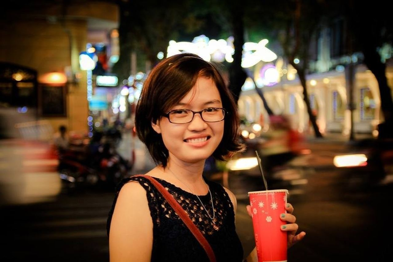 My friend. A night on new year Portrait City Colors Girl