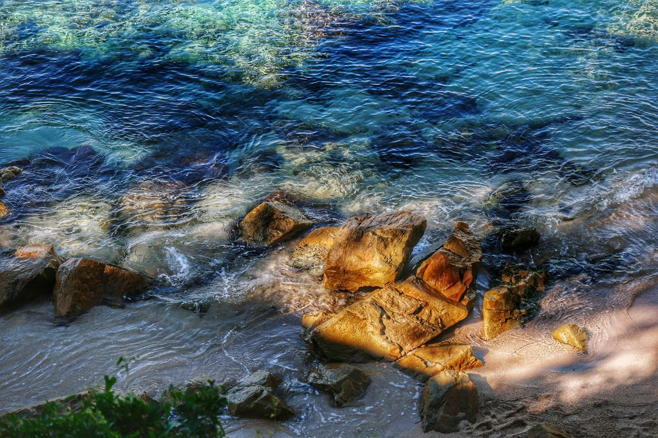 No People Close-up Outdoors Underwater Day Water Nature Creative Light And Shadow Blue Rock And Sea Sea Wave