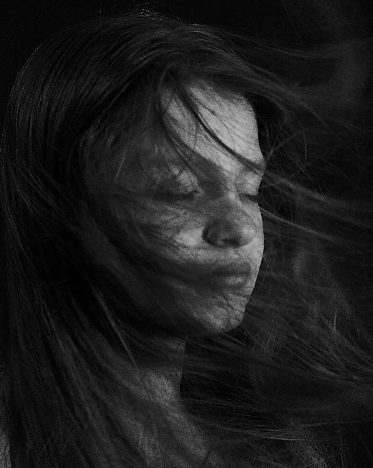Russia Blackandwhite Black And White Black & White Black And White Photography Blackandwhite Photography Black&white Blackandwhitephotography Portrait One Person Eyes Closed  Young Adult Human Face