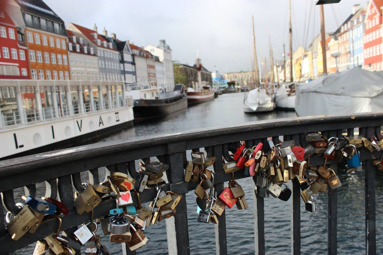 Copenhagen, Denmark Water Padlock River Travel Love Lock City Day Outdoors Close-up Lock Bright Colourful Focus View (null)Boats Canon600D Nofilter Photographer Photography Nature
