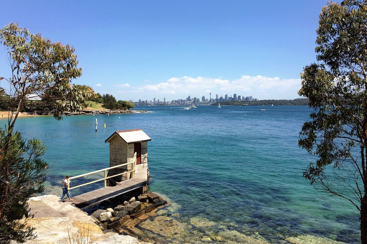 Sydney view from Watsons Bay. Tranquil Scene