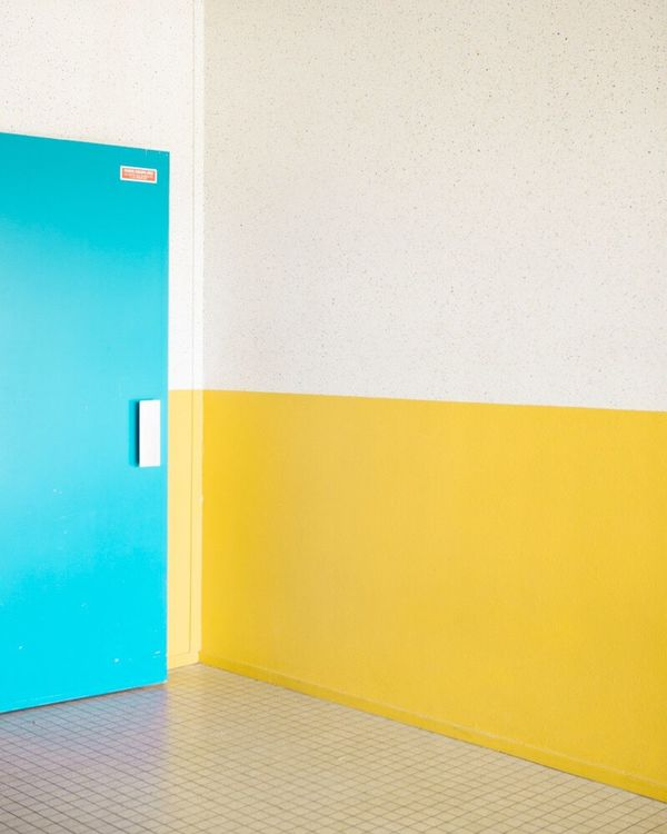 Wall - Building Feature Built Structure Multi Colored Architecture No People Indoors  Yellow Contemporary Art Minimalism Fine Art Photography Photography Geometric Shape