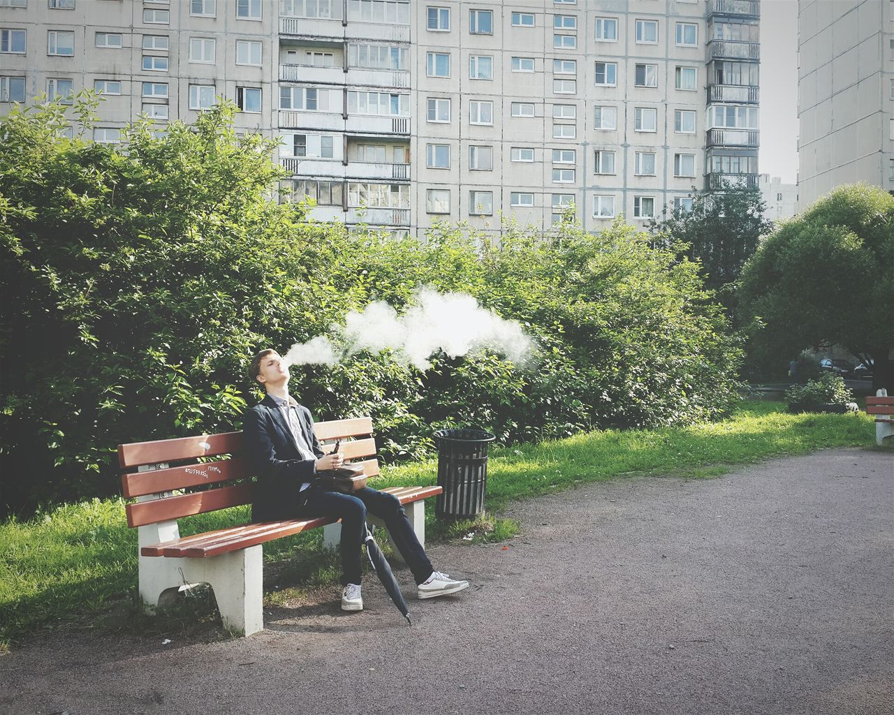 Beautiful stock photos of cigarette, 18-19 Years, Architecture, Bench, Building Exterior