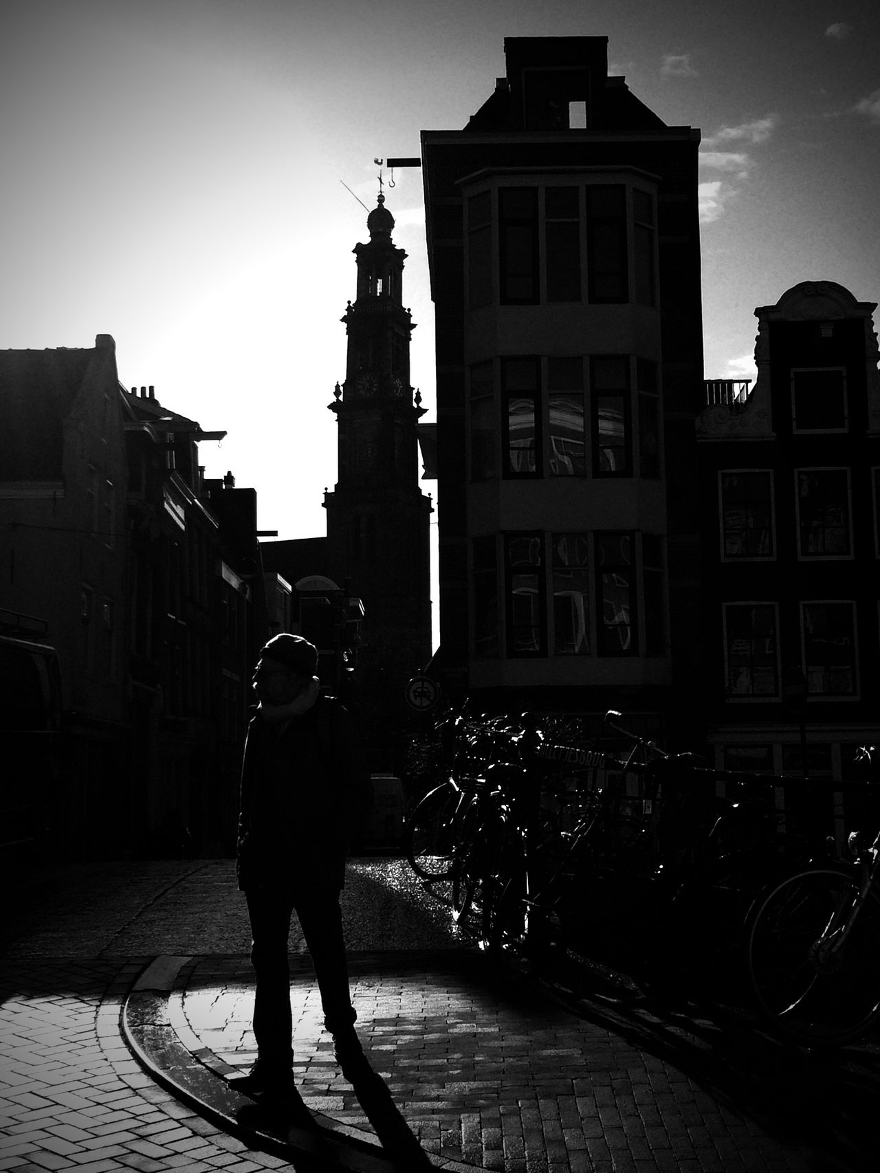 Black & White City Jordaan Amsterdam Amsterdamcity Church Westertoren