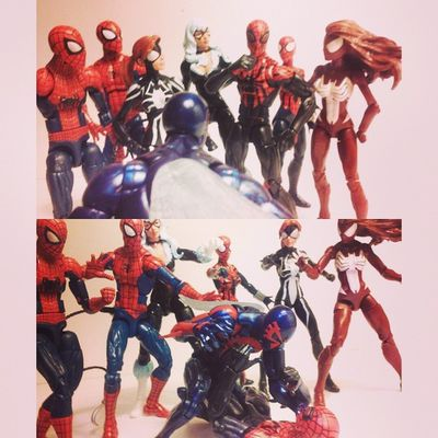 """2099 Spiderman-""""you..."""" Superior spiderman-""""me!?"""" 2099 spiderman-""""yes you!,you think you can fool me? i know you're not really Peter parker,i know its you otto octavious and because of your stupidity you've ruptured the future"""" Marvellegends Hasbro Infinitieseries Baf Collector Figurecollection Spideyverse Webwarriors 2099spiderman Spiderman Figures Figurelife Surperiorspiderman BLackCat Peterparker Spiderwoman Maydayparker Feliciahardy Figureslover Amazingspiderman Marvel Collection Webwarrior Disney Miguel hobgoblinwave Jessicadrew acba"""
