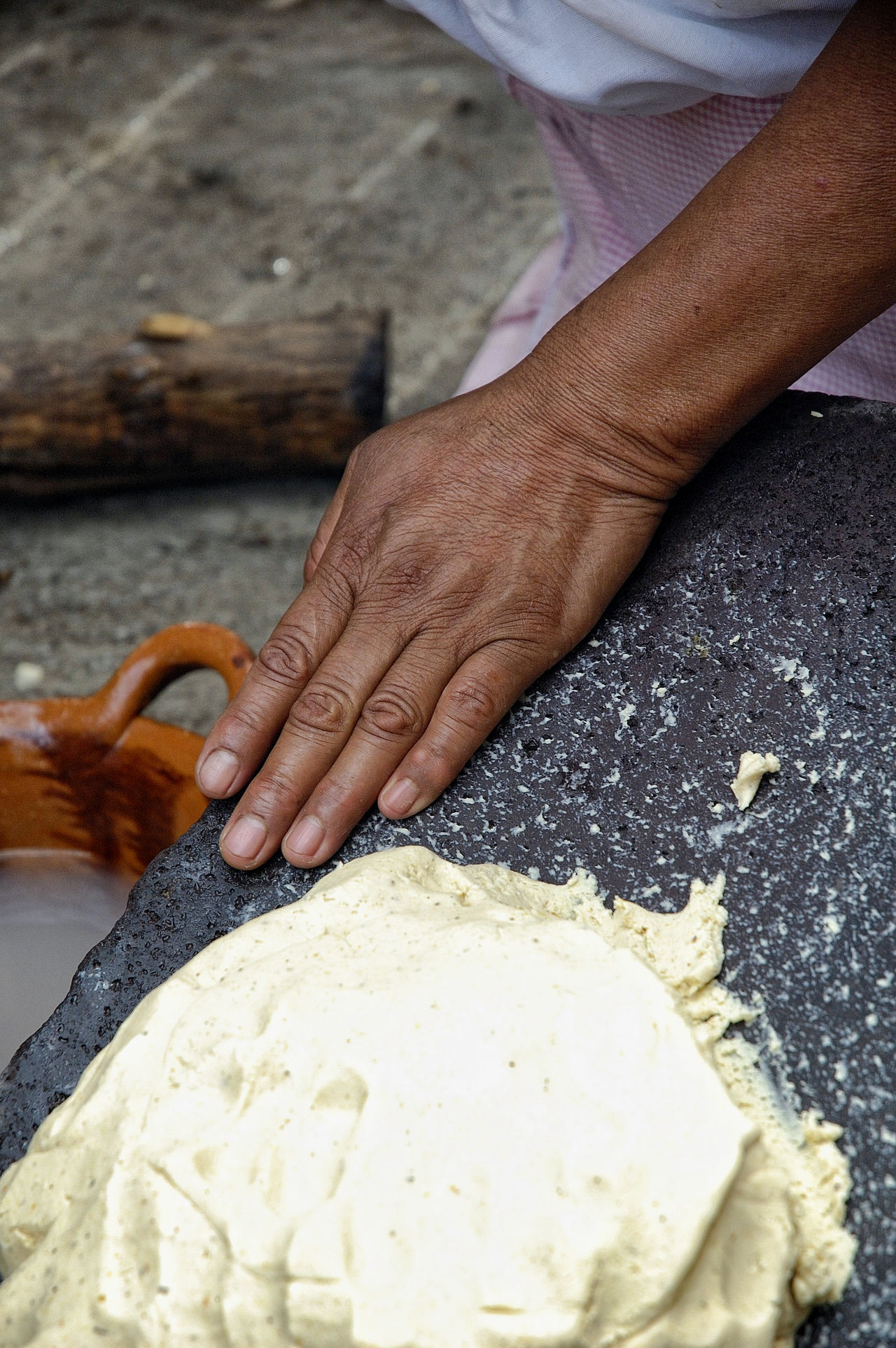 Corn Food Food And Drink Freshness High Angle View Holding Human Body Part Human Hand Kneading Making Tortillas Preparation  Real People Traditional Cooking Working Hands Visual Feast