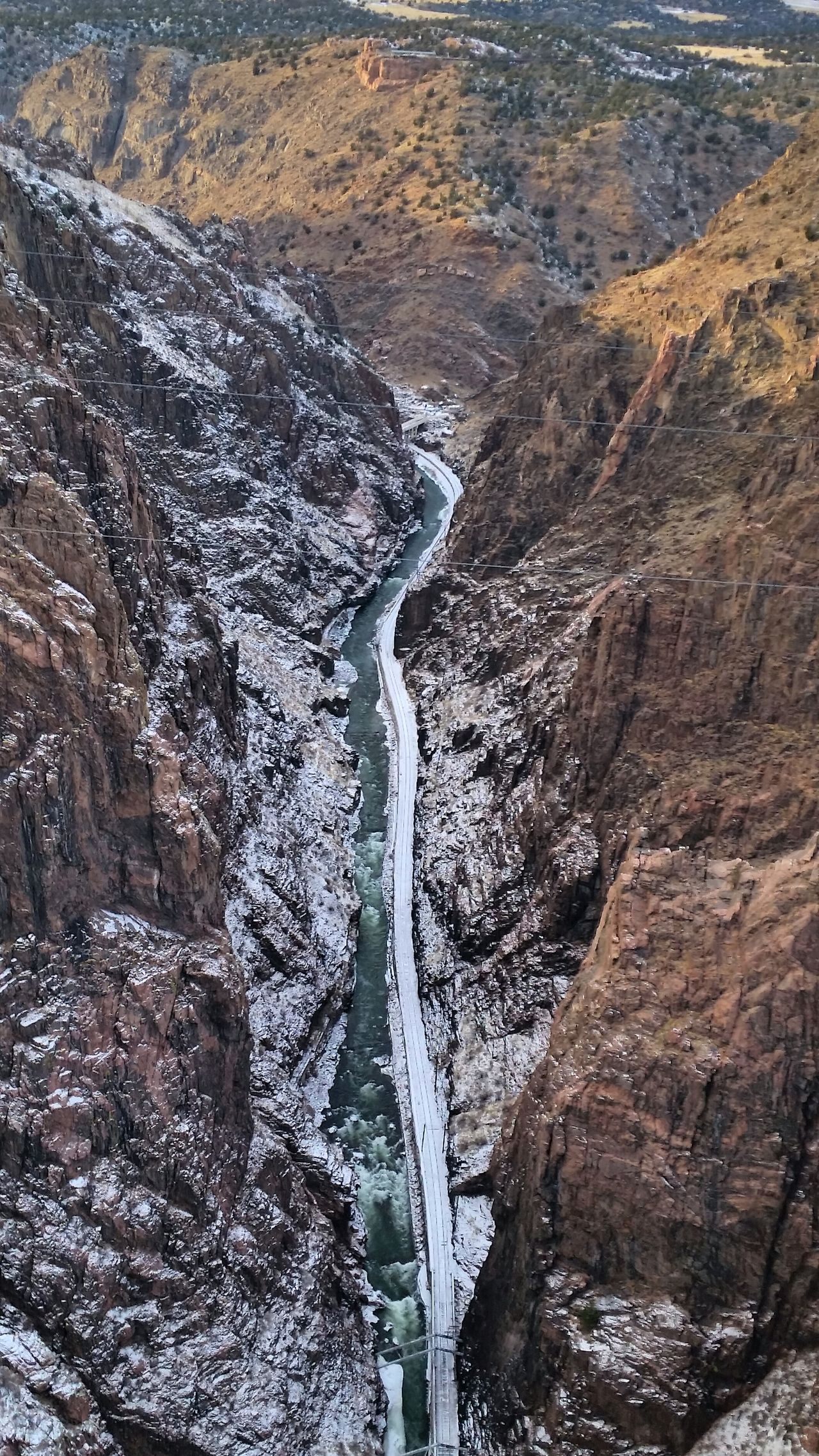 It's Cold Outside Traveling Christmas Time Colorado Royal Gorge Freezing Cold Snow ❄ Frozen River Arkansas River View From The Bridge Landscapes With WhiteWall
