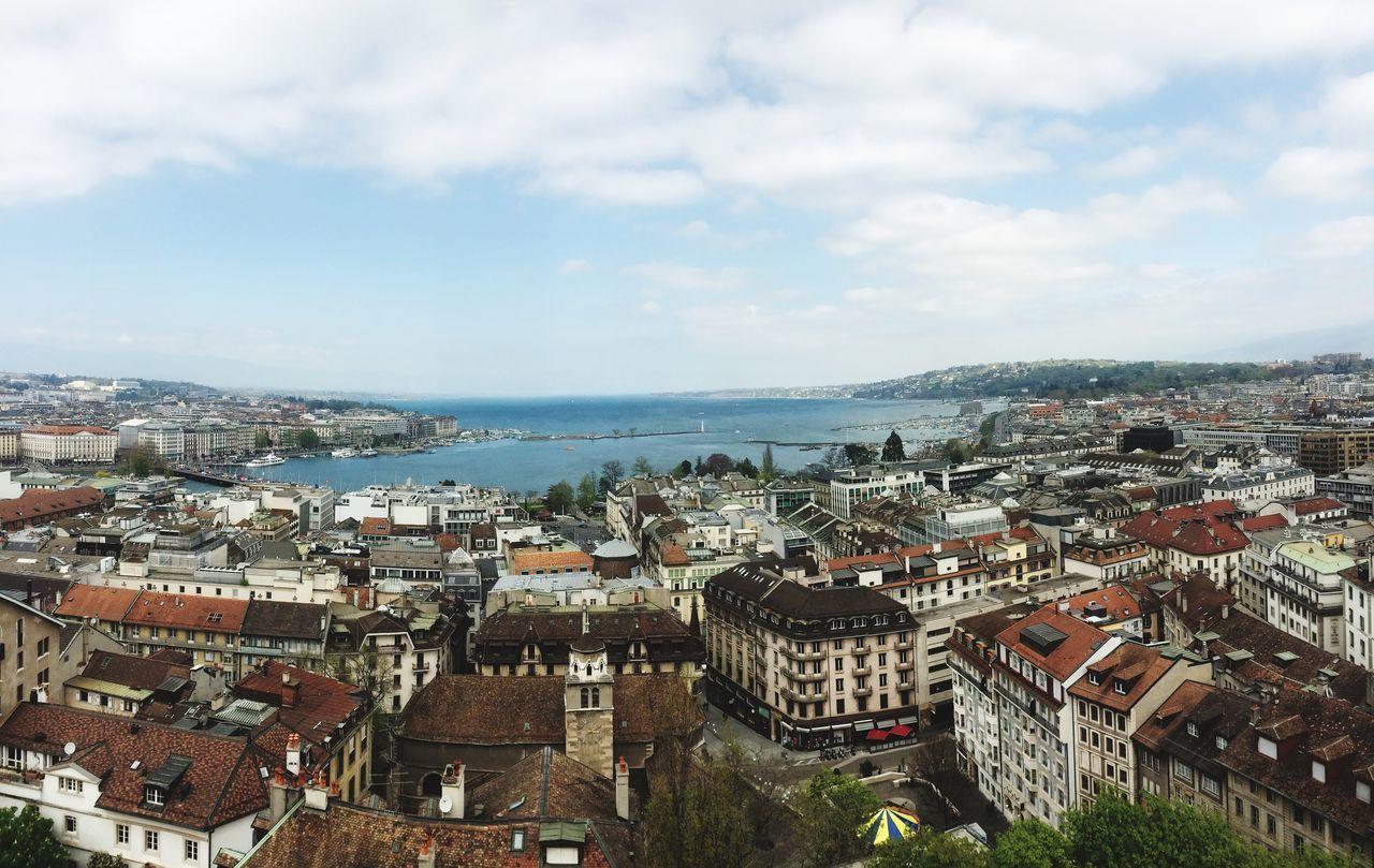 Geneve Travel Panorama City Lac Léman
