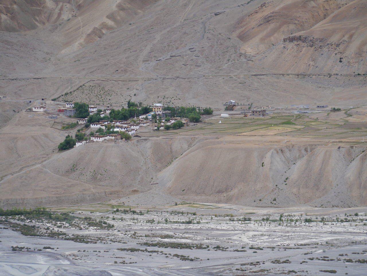 High Angle View Of Houses By River