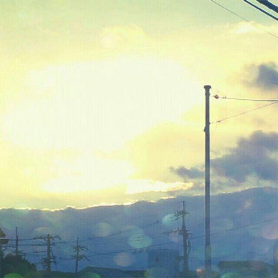 夕日 #sunset #magichour #electricline #sky #イマソラ Sunset Sky Magichour イマソラ Electricline