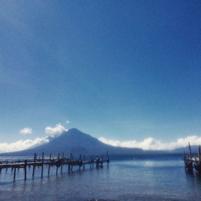 Atitlán, pedazo de cielo / Atitlán, a sky fragment Atitlan Atitlan Guatemala Solola Lago Azul Naturaleza QuechileraGuate Guate Viajes  2015  Blue Lake Nature Travel TheRealGuatemala PerhapsYouNeedALittleGuatemala Dock Guatemaya