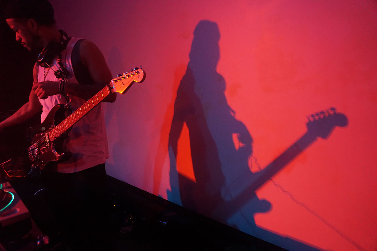 Band Blue Dude Gig Guitar Guitar Shaddow Live Music Male Man Manhattan Music Playing Red Shaddow Songs