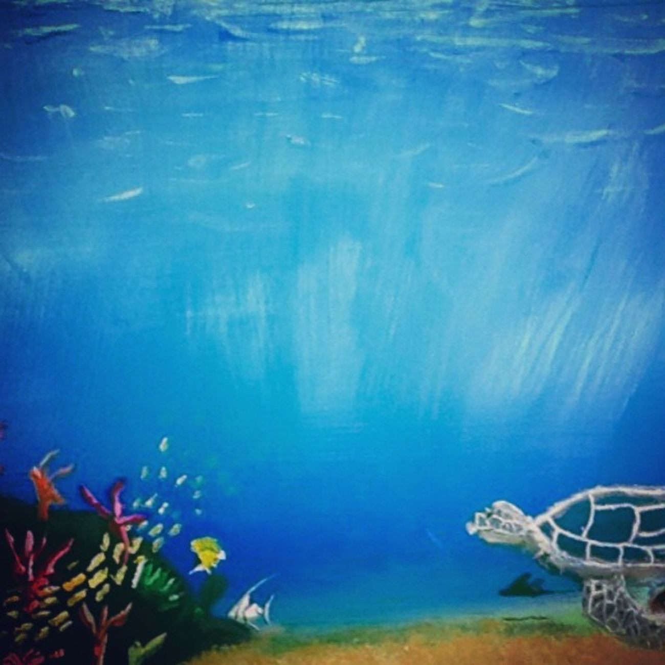 -Blue Vastness, Crawford, 2015-Artproject Painting Art School Underthesea Sea Turle