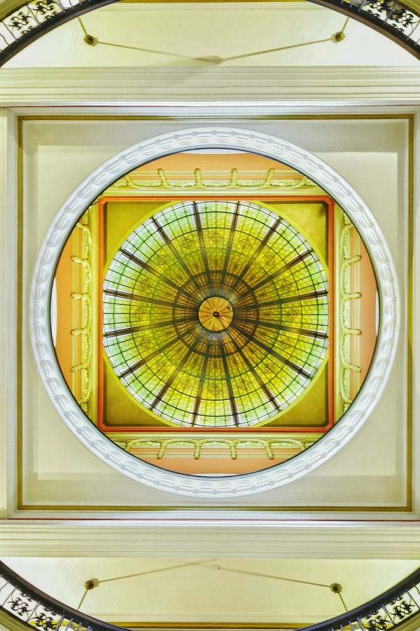 The ceiling inside Queen Victoria Building Artistic Photo Structural