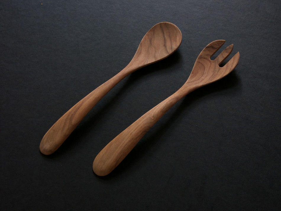 Fork Spoon Besteck Couvert Cuillère Cutlery Food Fourchette Wood - Material