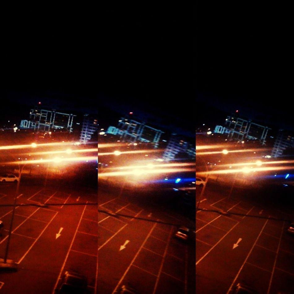 Lights Nightshot Parkingarea Hanging Out