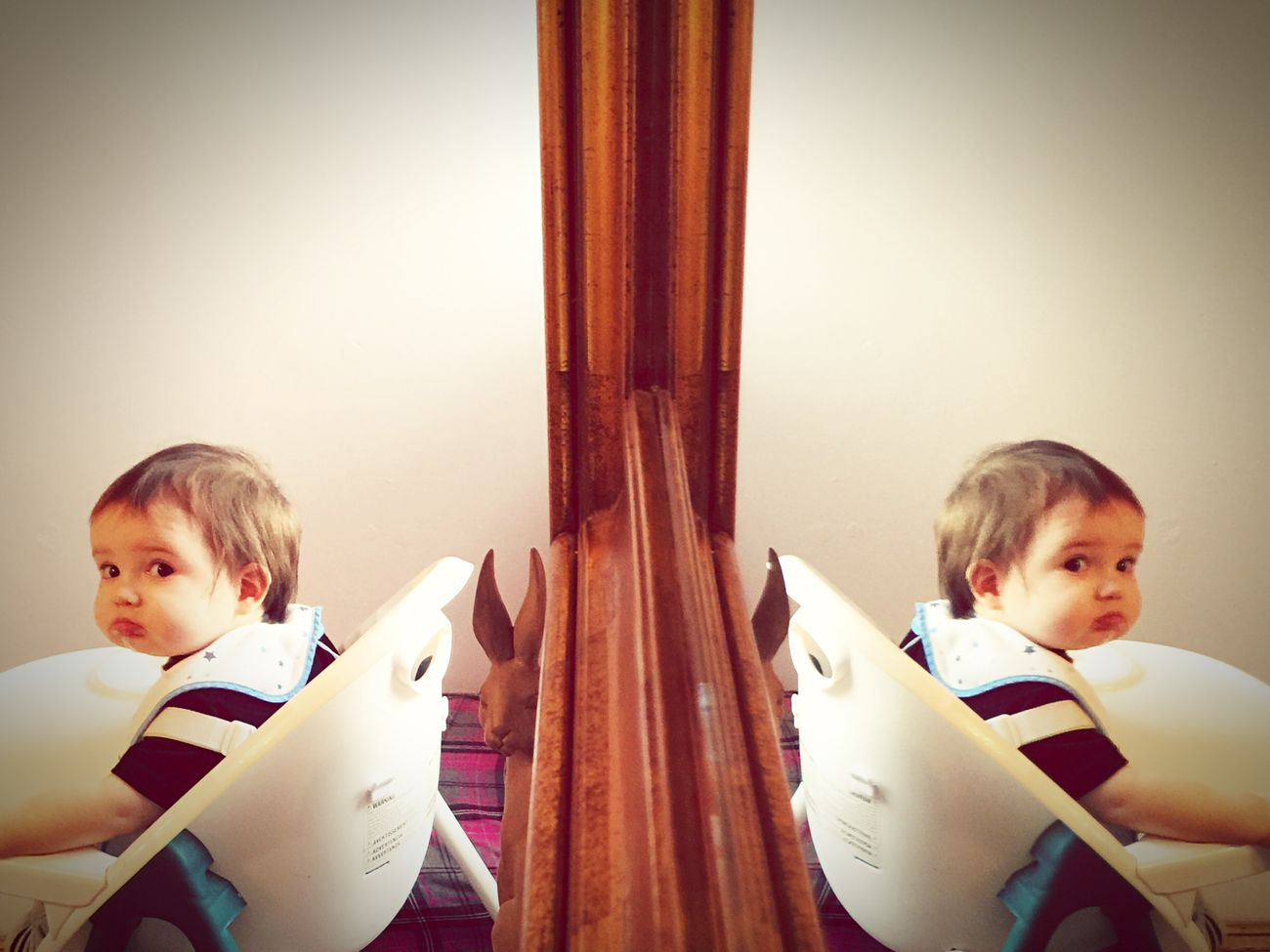 Baby Son Mirror Refection Sunday Afternoon Double Poser ❤ Photography