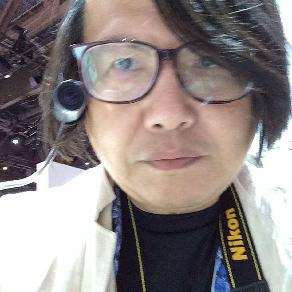 Panasonicのウェアラブルカメラを試しているところ