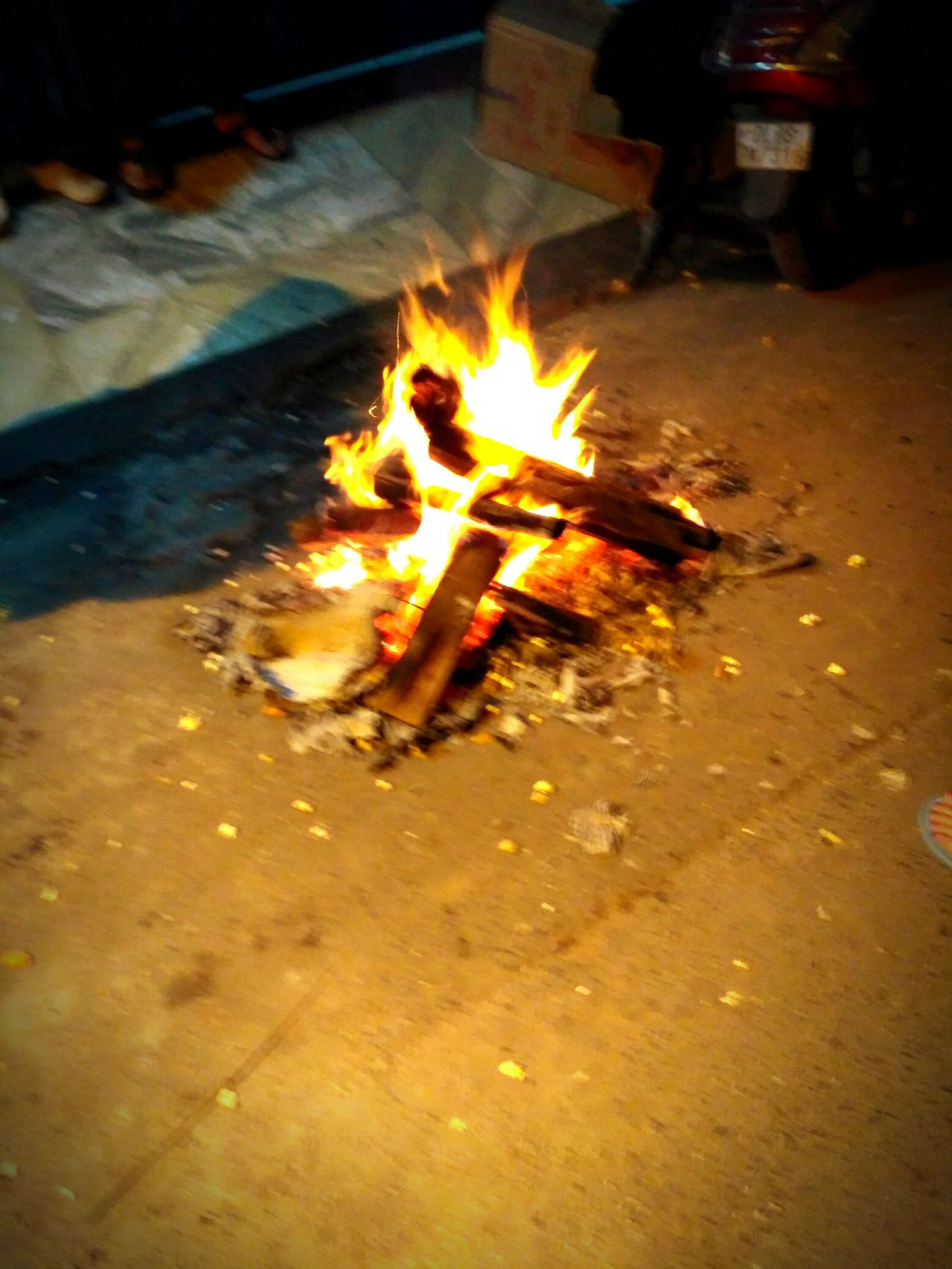 Happy Lohri 2017 Fire - Natural Phenomenon Flame Heat - Temperature Burning Glowing Motion Fire Pit Illuminated Outdoors No People Night