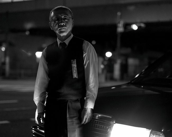 Taxi Driver Only Men One Man Only One Person Men Person Front View People People Watching Black And White Monochrome Photography Tokyo Japan Photography Followme Japan Black Background Real People Car Taxi Taxi Driver Dark Canon Canon6d Sigma Sigmalens Night