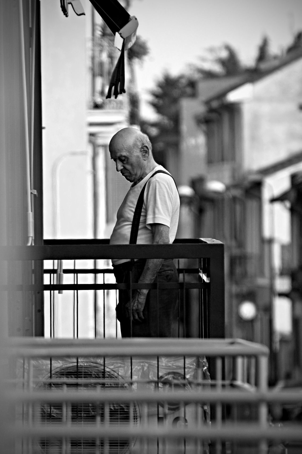 Balcony Black & White Black And White Day EyeEm EyeEm Gallery Loneliness Old Age Outdoors Railing Vertical