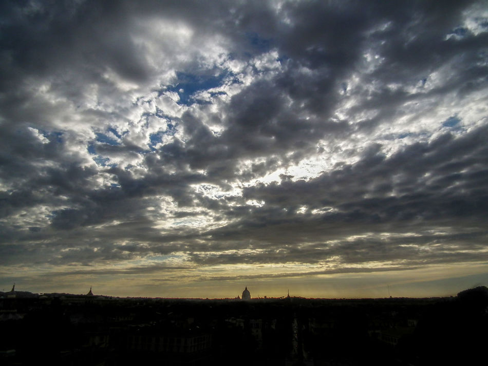 Beauty In Nature Cielo Cielo Nuvoloso Cloud - Sky Italia Italien Italy Italy❤️ Nature No People Panorama Pincio Rom Roma Rome Scenics Silhouette Sky Sonnenuntergang Sunset Sunset Silhouettes Sunset_collection Tramonti Tramonto Tranquil Scene