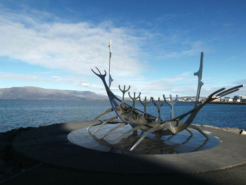 Travel Destinations Travel Nautical Vessel Water Nature Sky Beauty In Nature Sea Vikings  Rekjavik Islande Iceland Memories Iceland Trip Iceland_collection Iceland Resist