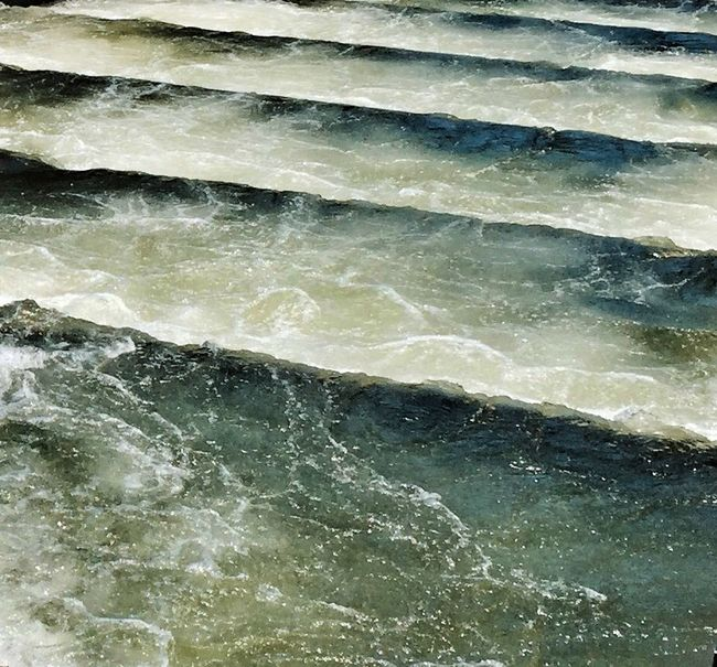 Fish Ladder Water Texture Colors Perspective Walking Around EyeEm Nature Lover Nature Water_collection Streamzoofamily Green Pattern Pieces Color Palette