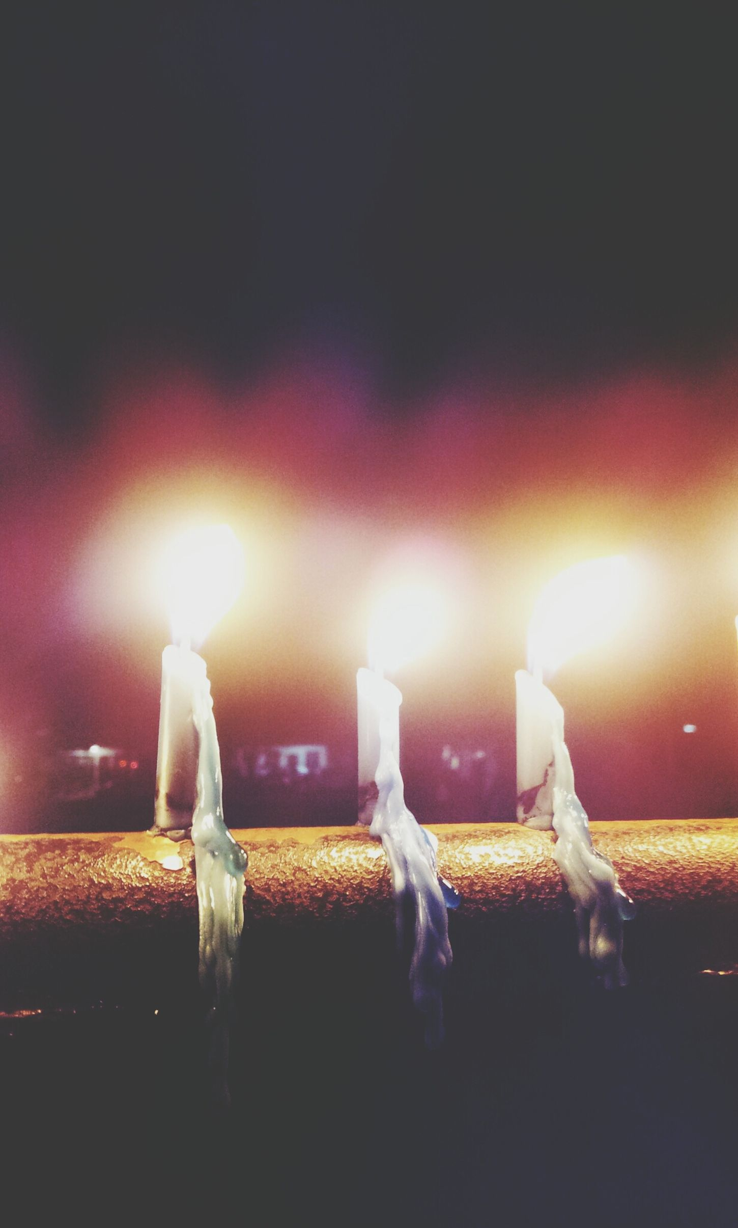 instead of lanterns, we played with candles. Happymidautumnfestival