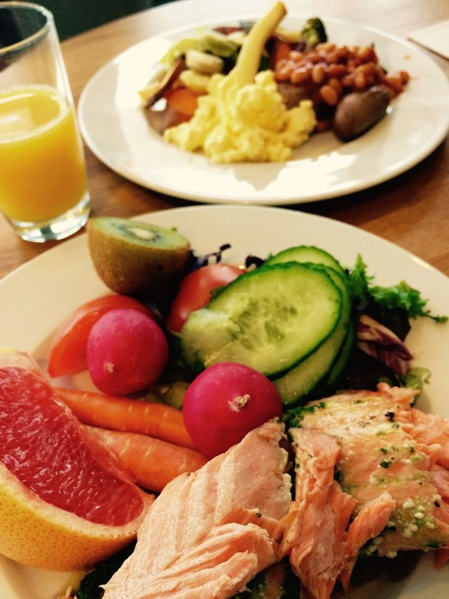 Breakfast Buffet Dietfood Food Freshness Fruit Good Morning Gulten Free Healthy Eating Healthy Food Meal Organic Salmon Sugerfree Vegitables