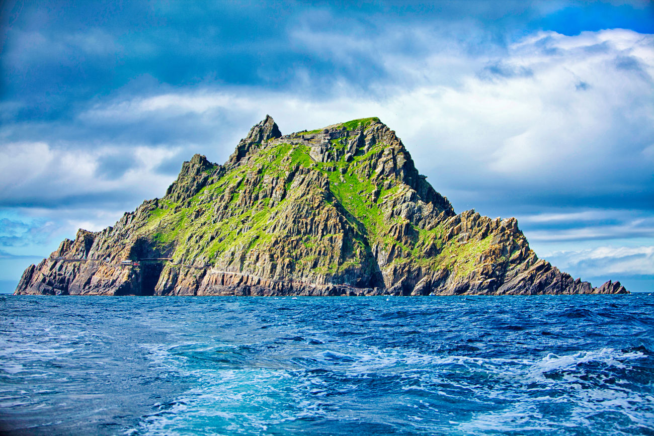 Beauty In Nature County Kerry Day Ireland Island Mountain Natural Arch Nature No People Outdoors Remote Scenics Sea Skellig Skellig Islands Skellig Michael Sky Star Wars The Force Awakens Tranquil Scene Tranquility UNESCO World Heritage Site Water Waterfront Wild Atlantic Way