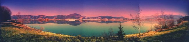Landscape Panorama Panoramic Photography Water Reflections Landscape Reflecting In Mirror Color Edit Riverscape Learn & Shoot: Balancing Elements Horizontal Symetry Factory Cold And Warm Spring Landscapes With WhiteWall