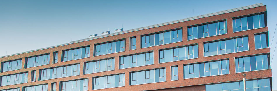Apartment Architecture Balcony Blue Blue Pattern Building Building Exterior Built Structure City Day Exterior Low Angle View Modern No People Outdoors Pattern Colors And Paterns Residential Structure Side By Side Sky Sky And Building Window Patterns Window Reflection Windows