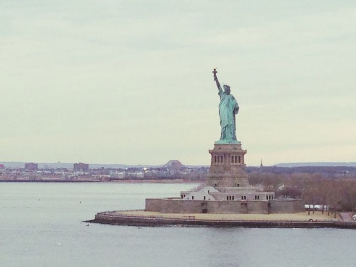 perfect view from a ship despite the freezing temperatures. Cruise Ship Norwegian Statueofliberty