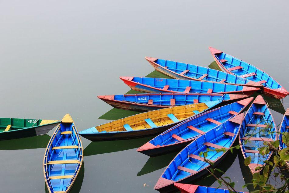 Outdoors Boats⛵️ No People Phewa Lake Pokhara!