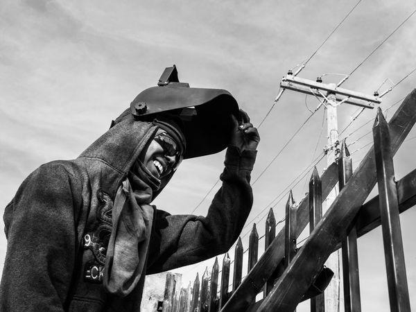 worker Streetphotography Nicaragua B&W Portrait