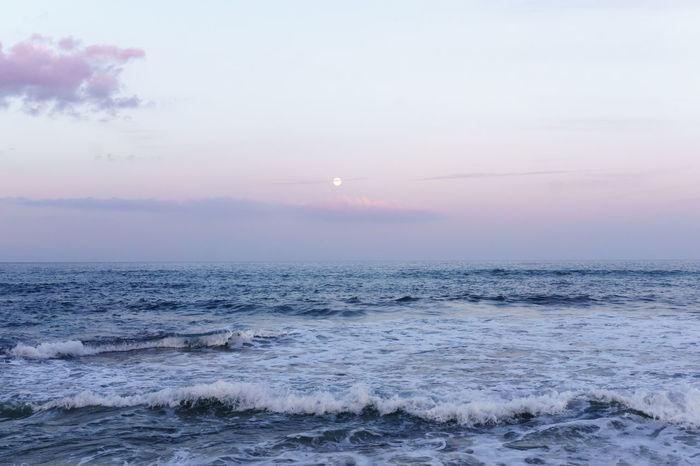 Mallorca Beauty In Nature Blue Cloud - Sky Fine Art Photography Full Moon Horizon Horizon Over Water Idyllic Moon Moonlight Nature No People Non-urban Scene Ocean Outdoors Remote Rippled Sea Seascape Shore Sky Skyporn Tranquility Water Wave