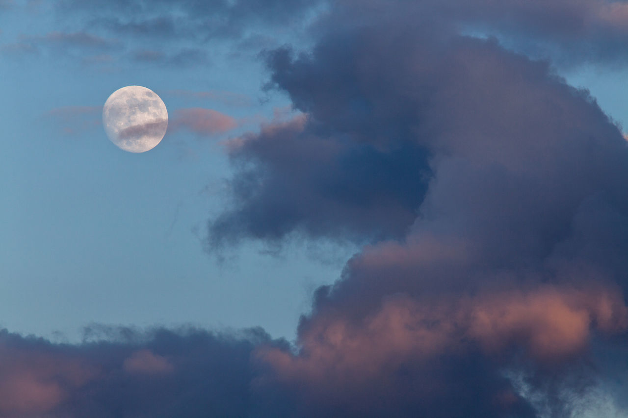 Beautiful stock photos of full moon, Astronomy, Beauty In Nature, Circle, Cloud - Sky