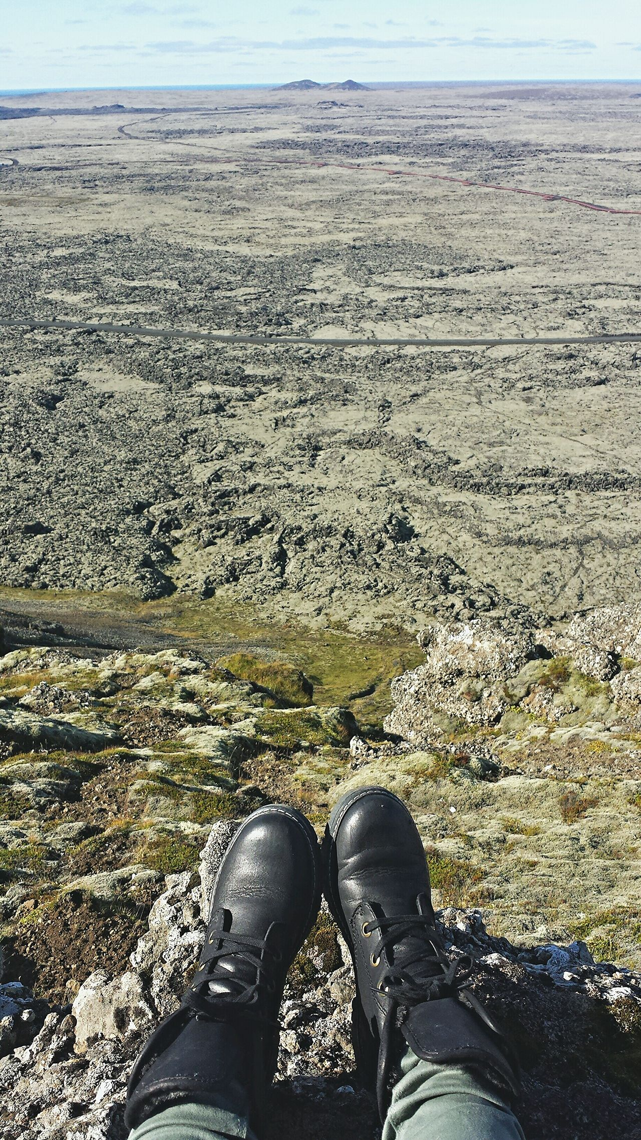 I'm on top of the world 🙌 Iceland Hiking Volcano On Another Planet  Traveling Adventure My Shoes Track Every Step Perspectives Mobile Photography What I Value