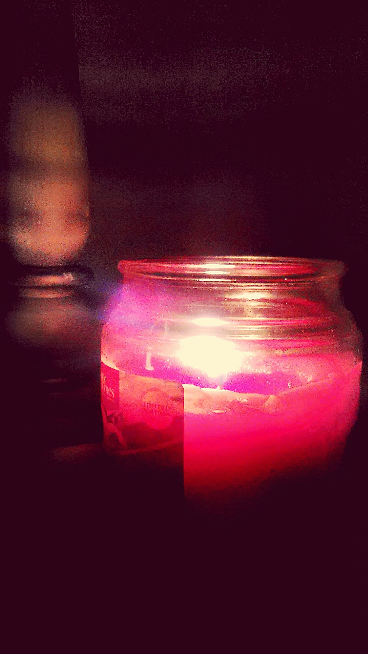 Cranberry Apple Scented Candle Nightphotography Relaxing