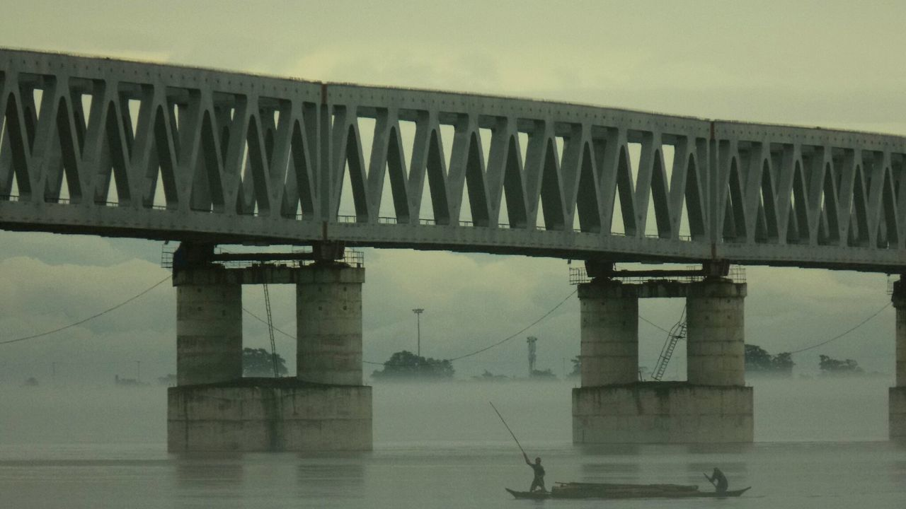 Bridges The Mighty Brahmaputra Brahmaputra_river Boat Life Travel Destinations Travel Photography Misty Morning Misty Landscape EyeEm Best Shots Boatlovers River View