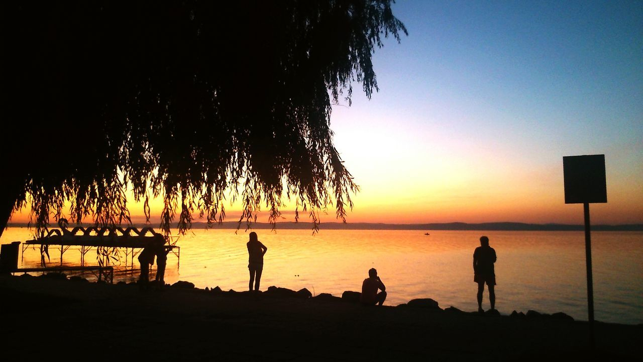 Goldenbeach Sunset I<3balaton Summer ☀ 43 Golden Moments Mission 43 Golden Moments Taking Photos I❤nature Summer Evening Sunset Silhouettes