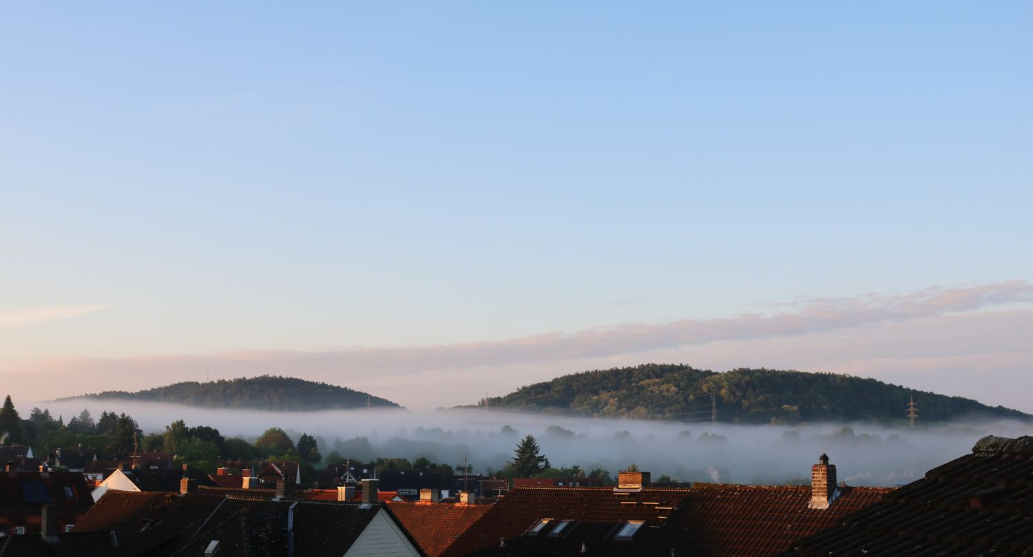Foggy morning! View from our bedroom... Aschaffenburg Beautiful Nature Beauty In Nature Beliebte Fotos Cloud - Sky EyeEm Nature Lover Fog_collection Foggy Morning Foggy Weather From My Point Of View Good Morning Idyllic Ladyphotographerofthemonth Landscape Mountain Range My Favorite Photo Nature Photography Natures Diversities Peace And Quiet Places You Must To See Scenics Sky Spessart  Tranquil Scene Tranquility