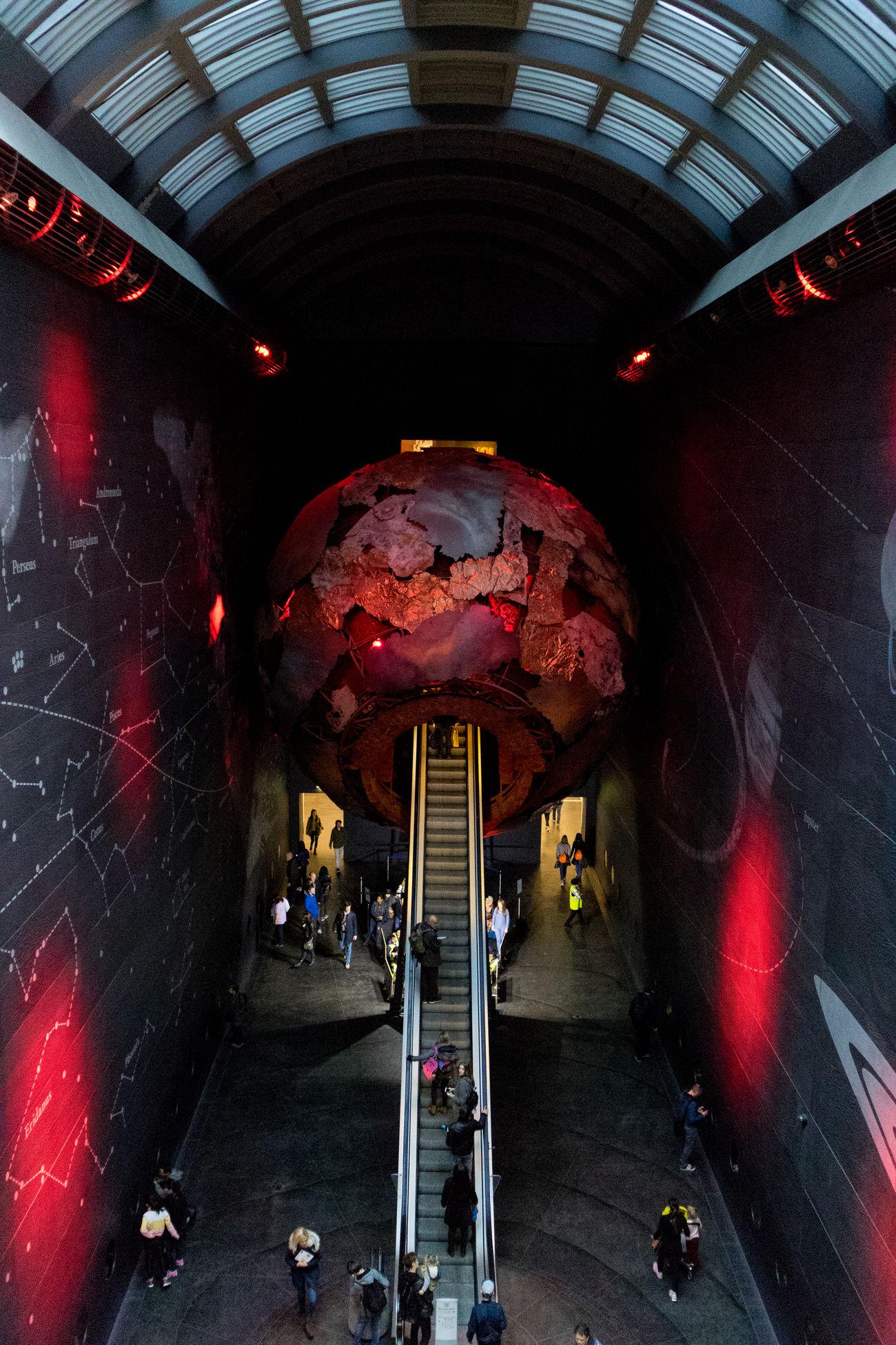 Arch Escelator Illuminated Indoors  London Museum First Eyeem Photo