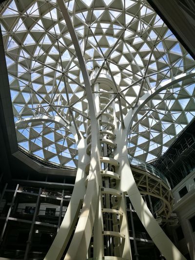 Low Angle View Indoors  Architecture Ceiling Built Structure Day Modern