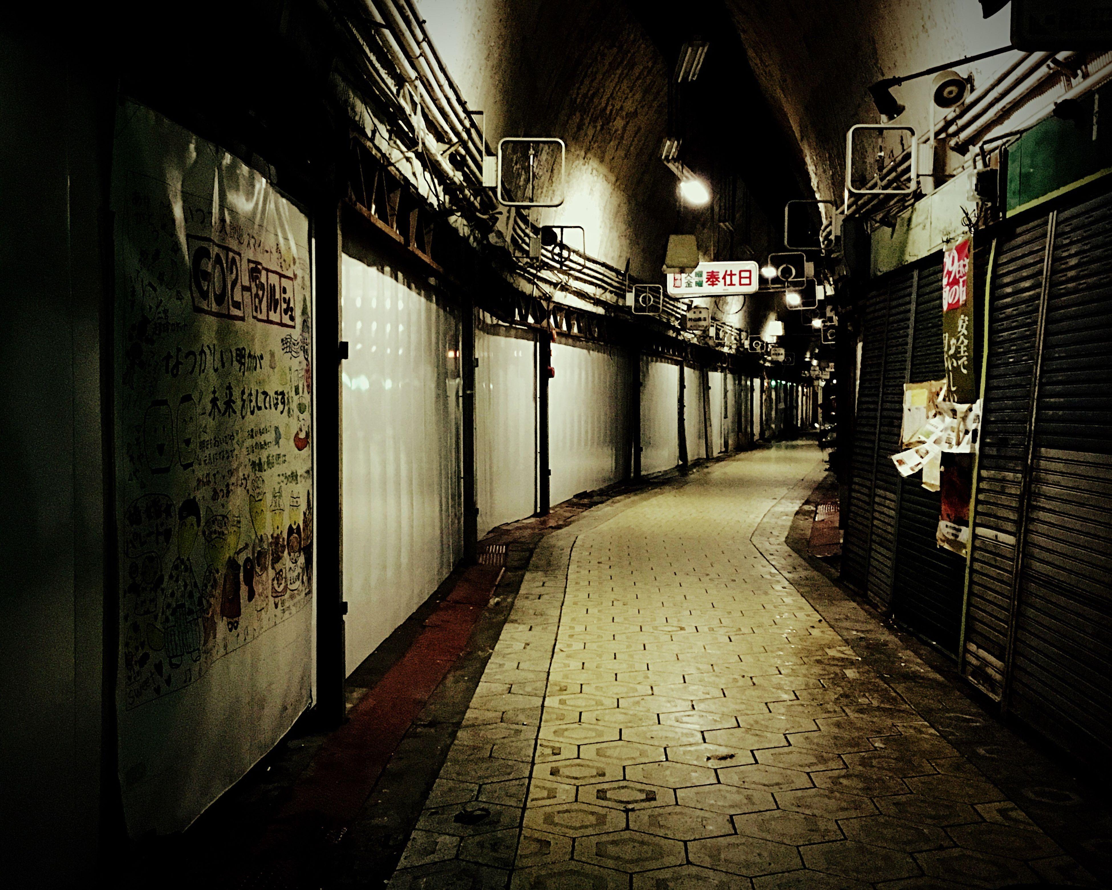 illuminated, architecture, night, city, indoors, no people