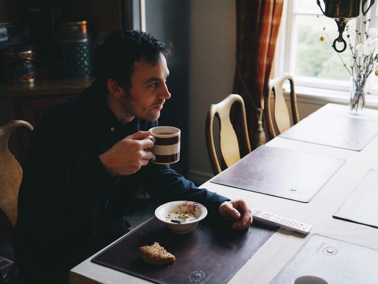 Brother at breakfast Breakfast Solvik Home Man