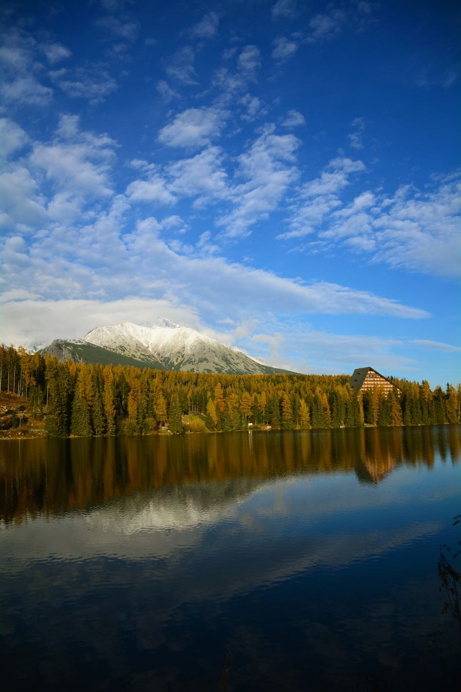 Water Reflection Lake Nature Wilderness Forest Landscape Outdoors Sky Mountain Slovakia High Tatras Strbske Pleso