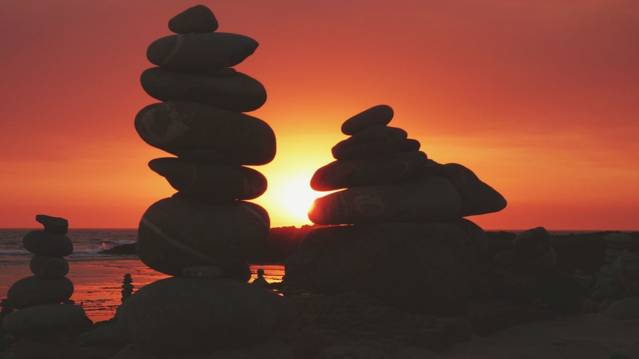 Sunset Silhouette Orange Color Stack In A Row Balance No People Tranquility Nature Zen Rock On Beach Zen Stones Peace Horizon Over Water The Week On EyeEm Summer Sunny Close-up Zen Stone Zen Rock At Beach Zen Rock At Sunset Beach Zen Stack Sea Scenics Landscape Rock - Object Paint The Town Yellow